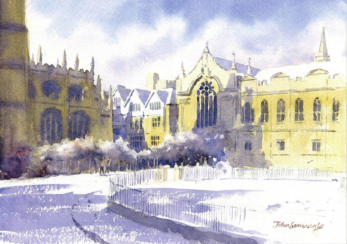 Snow in Radcliffe Square